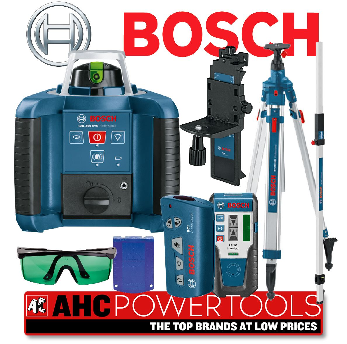 bosch grl 300 hvg pro site rotary laser level kit grl300