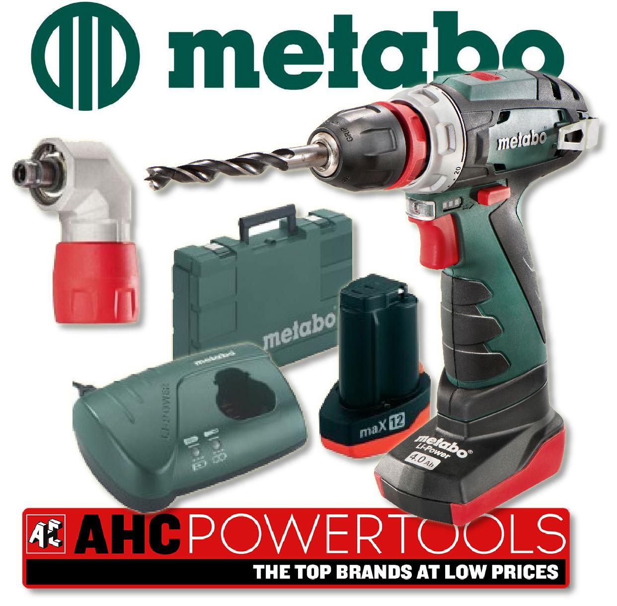 Metabo 10.8V PowerMaxx BS Quick Pro Cordless Drill 2ah & 4ah Batteries   eBay