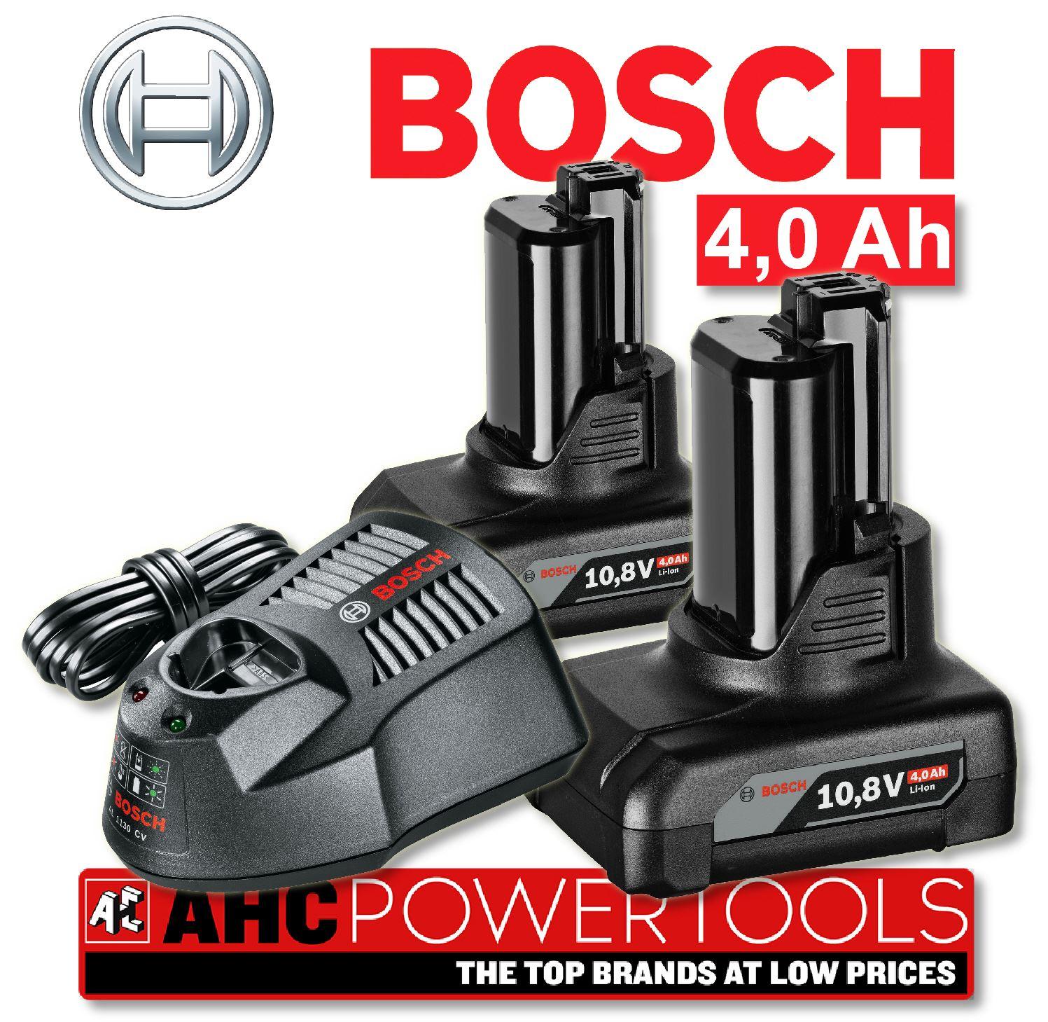 bosch gba 10 8v 4 0ah li ion batteries x 2 plus al1130cv charger set ebay. Black Bedroom Furniture Sets. Home Design Ideas