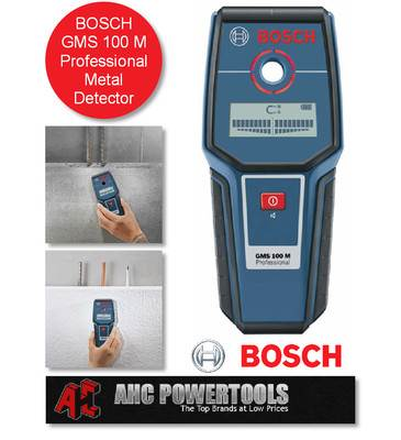bosch gms 100m professional metal detector complete with protective bag ebay. Black Bedroom Furniture Sets. Home Design Ideas