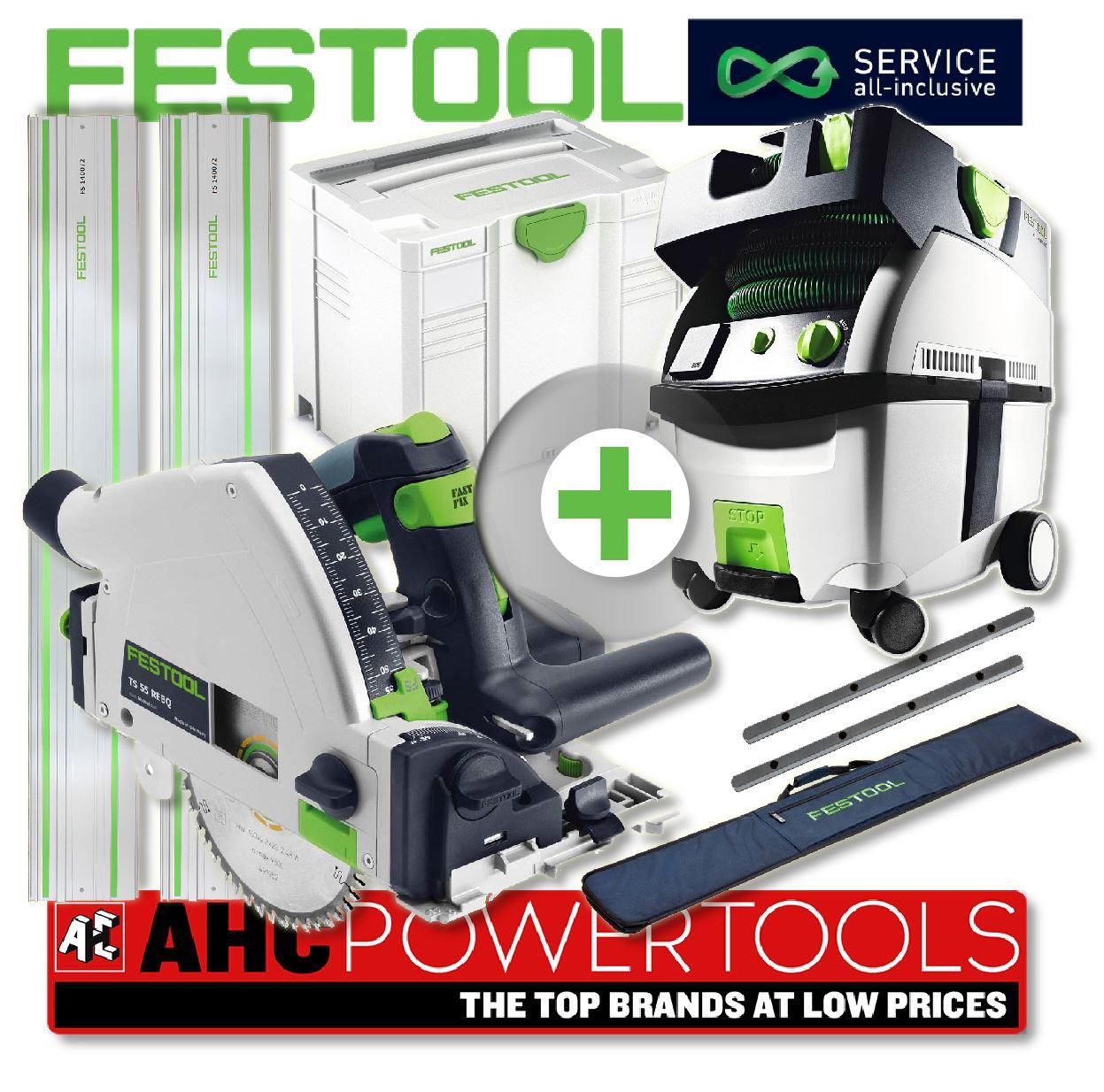 festool circular saw ts 55 rebq plus fs gb ctl midi dust extractor 240v ebay. Black Bedroom Furniture Sets. Home Design Ideas