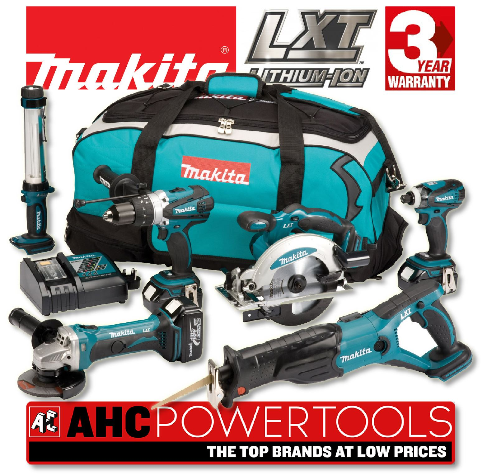 makita dlx6000m 18v lxt lithium ion 6 piece cordless kit. Black Bedroom Furniture Sets. Home Design Ideas