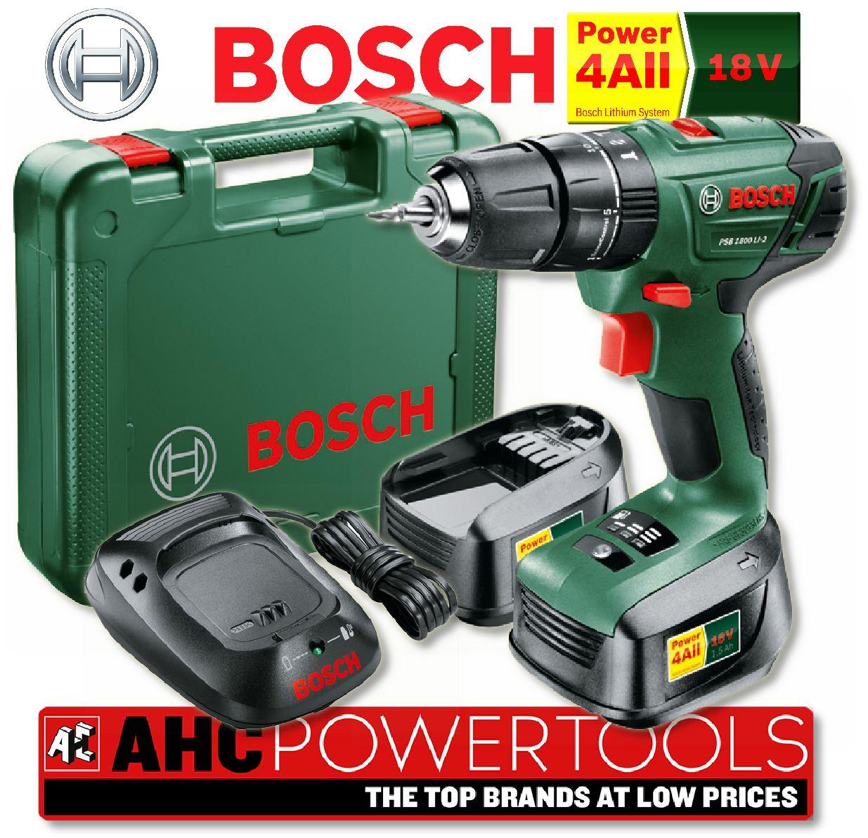 bosch psb 1800 li 2 18v li ion cordless combi drill 2 x 18v batteries ebay. Black Bedroom Furniture Sets. Home Design Ideas