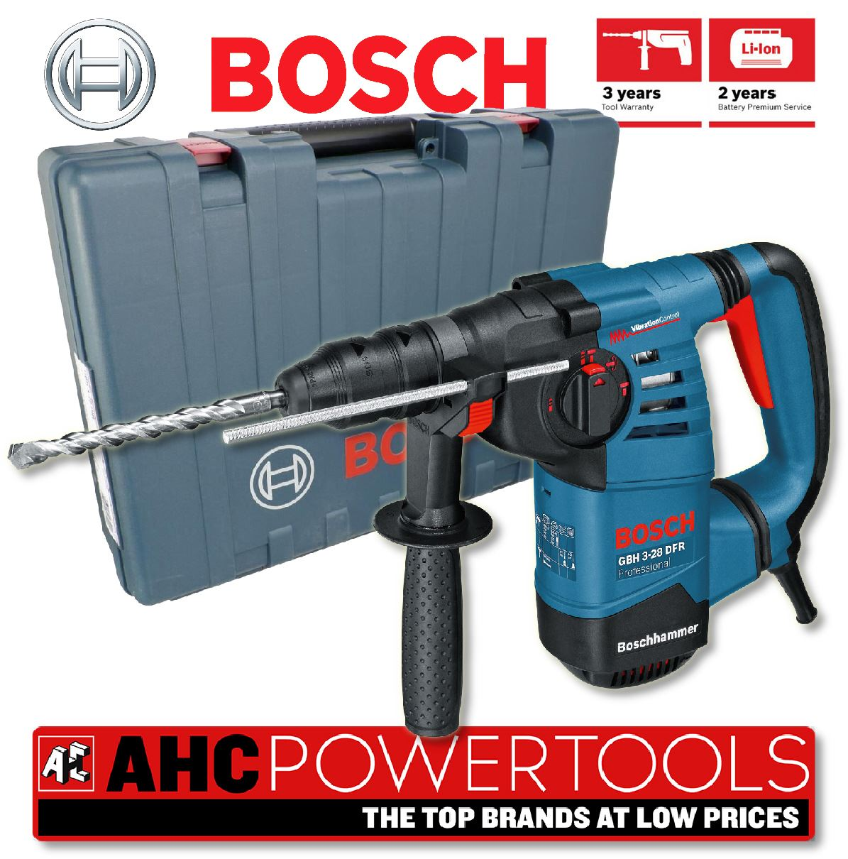 bosch gbh 3 28 dfr 3kg sds multi drill rotary hammer drill with qc chuck 110v. Black Bedroom Furniture Sets. Home Design Ideas