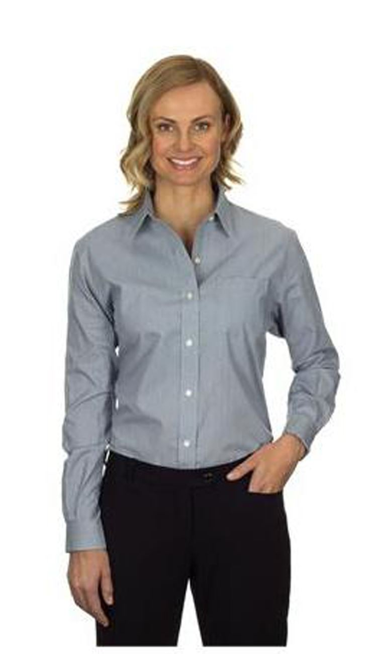 Womens shirt blouse van heusen cotton rich easycare Wrinkle free shirts for women