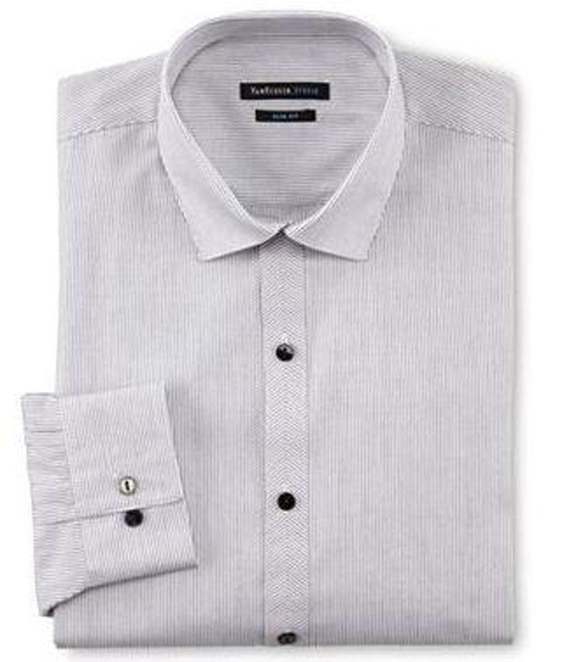 Mens shirt van heusen slim fit cotton rich easycare long for Van heusen dress shirts