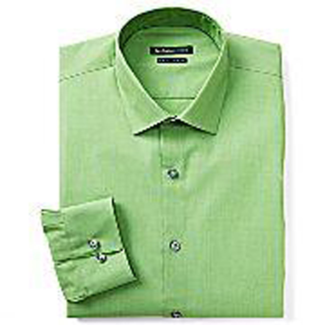 Mens shirt van heusen slim fit cotton rich easycare solid for Van heusen men s regular fit pincord dress shirt