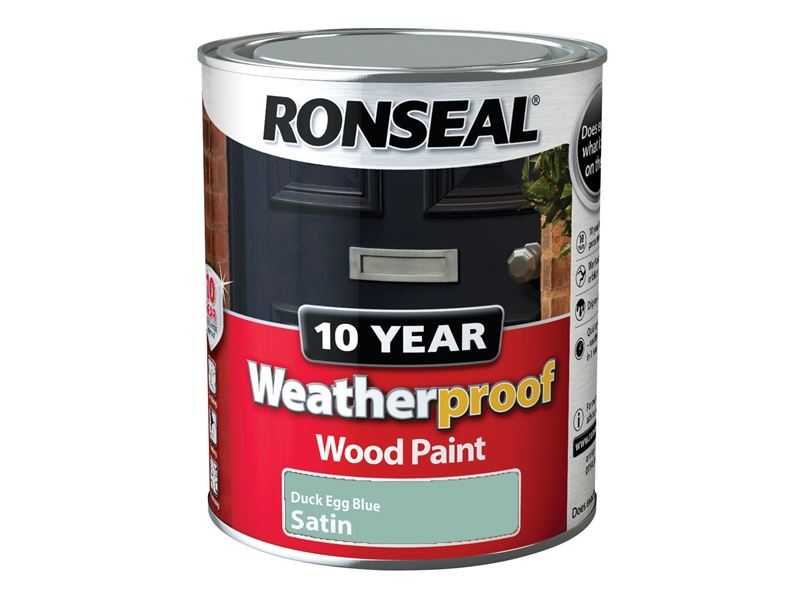 Duck Egg Ronseal  Year Weatherproof Wood Paint Ml