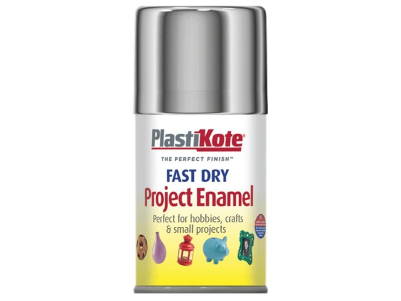 Plasti kote fast dry enamel paint aerosol spray can chrome for Fast drying craft paint
