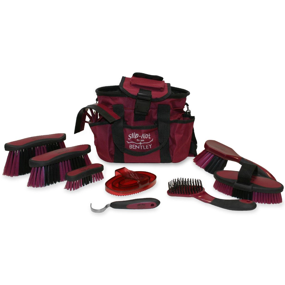 Bentley Equestrian Deluxe Antibacterial Grooming Brushes Horse Cleaning Kit Set Ebay