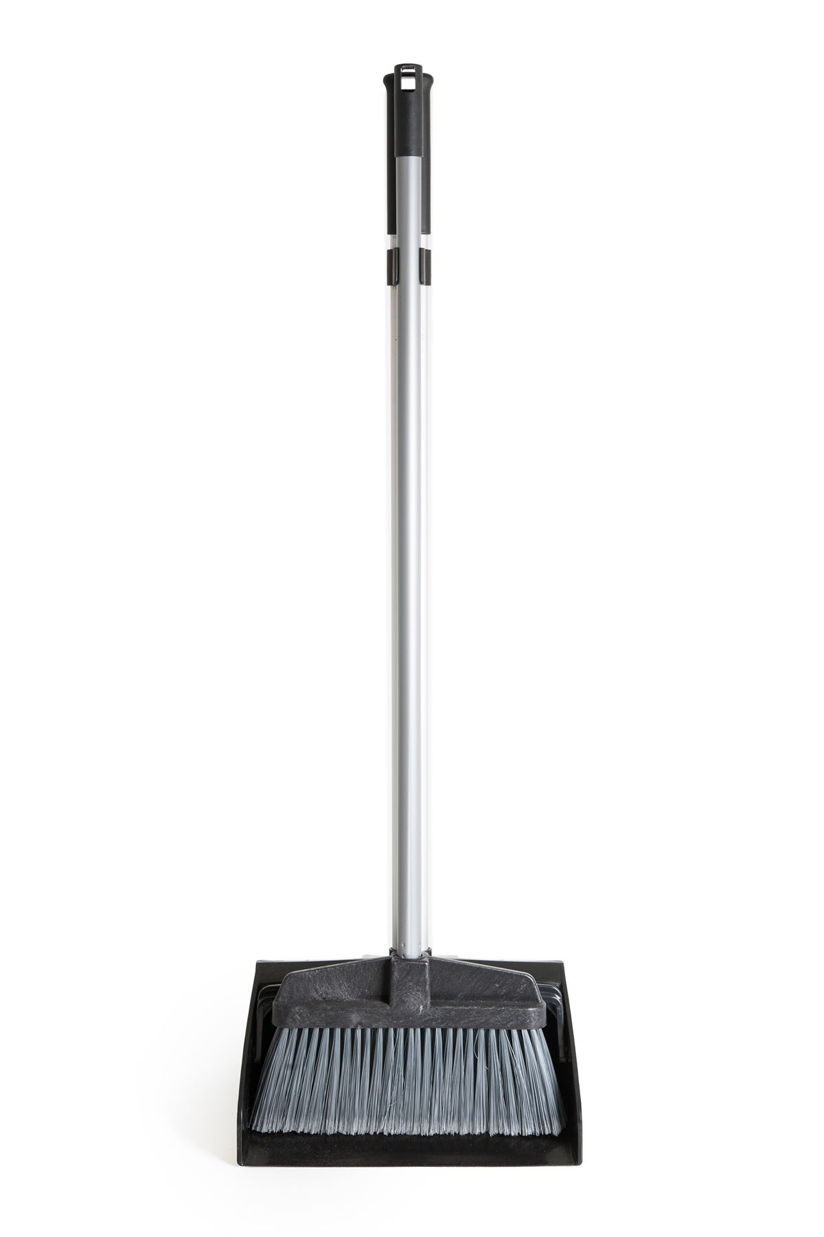 industrial deluxe long handled lobby dustpan and brush long dust pan broom set ebay. Black Bedroom Furniture Sets. Home Design Ideas