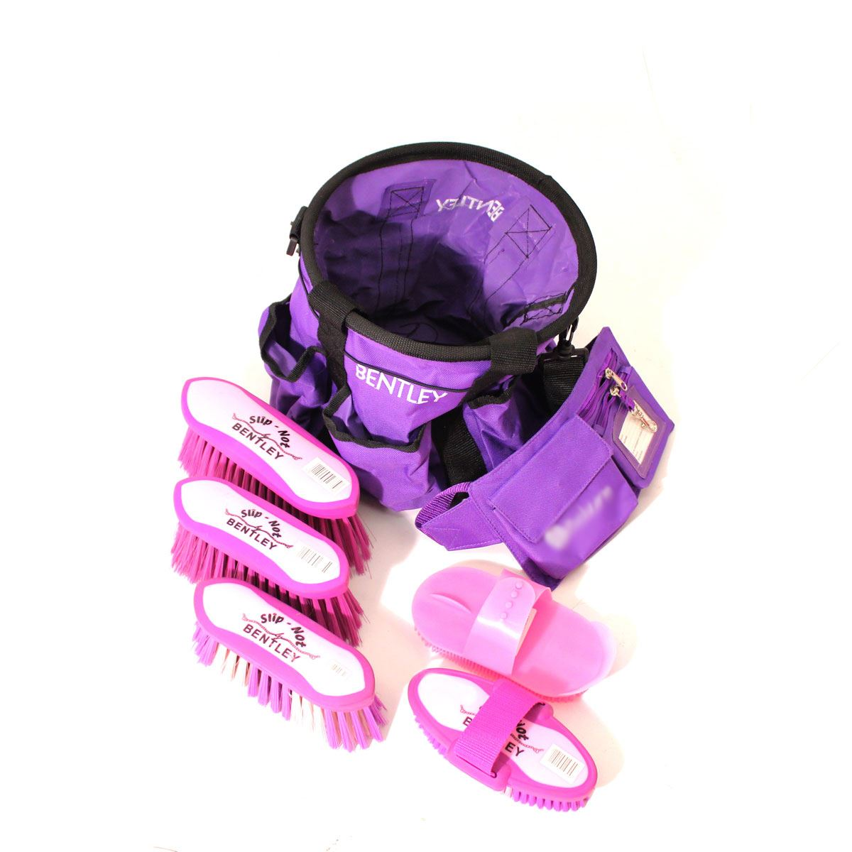 Bentley Slip Not Hoof Brush Pink At Burnhills: Equestrian Horse Grooming Kit Quality Pony Grooming
