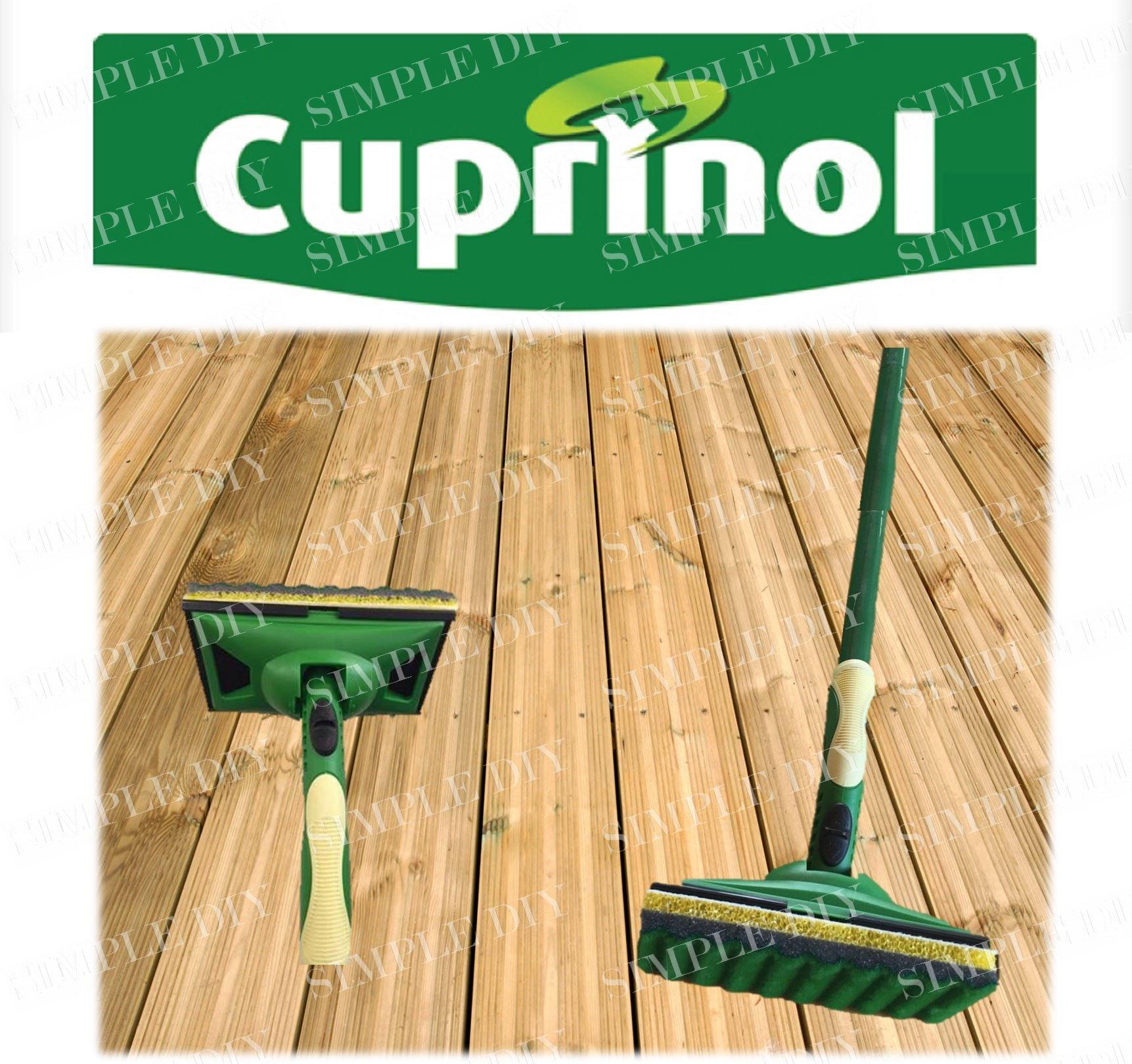 Paint Pad Dispenser ~ Cuprinol decking applicator paint pad set long handled
