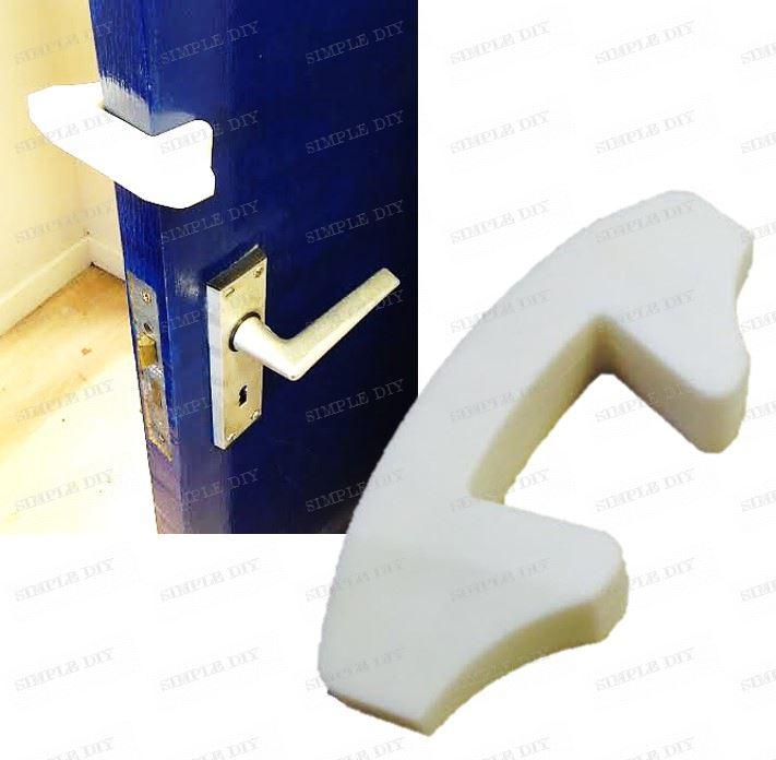 Safety Door Stopper : Child safety door stop finger guard jammer wedge anti