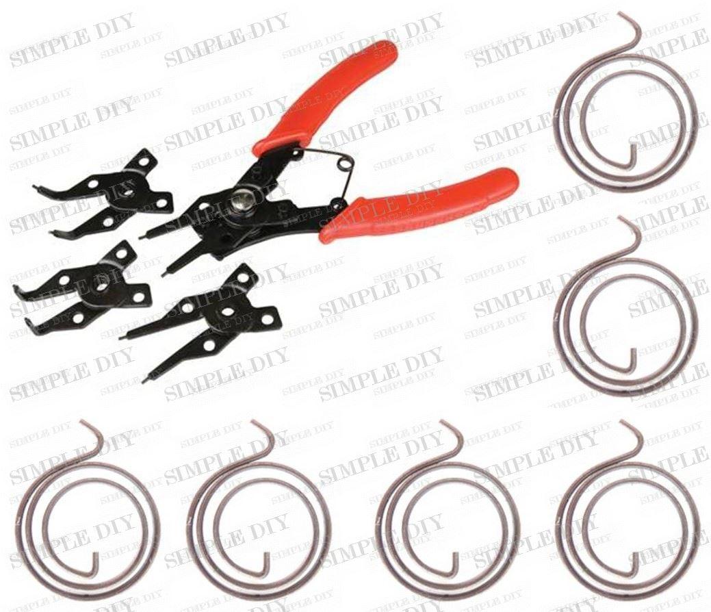 Replacement Door Handle Spring Repair Kit 3 Coil Amp Circlip