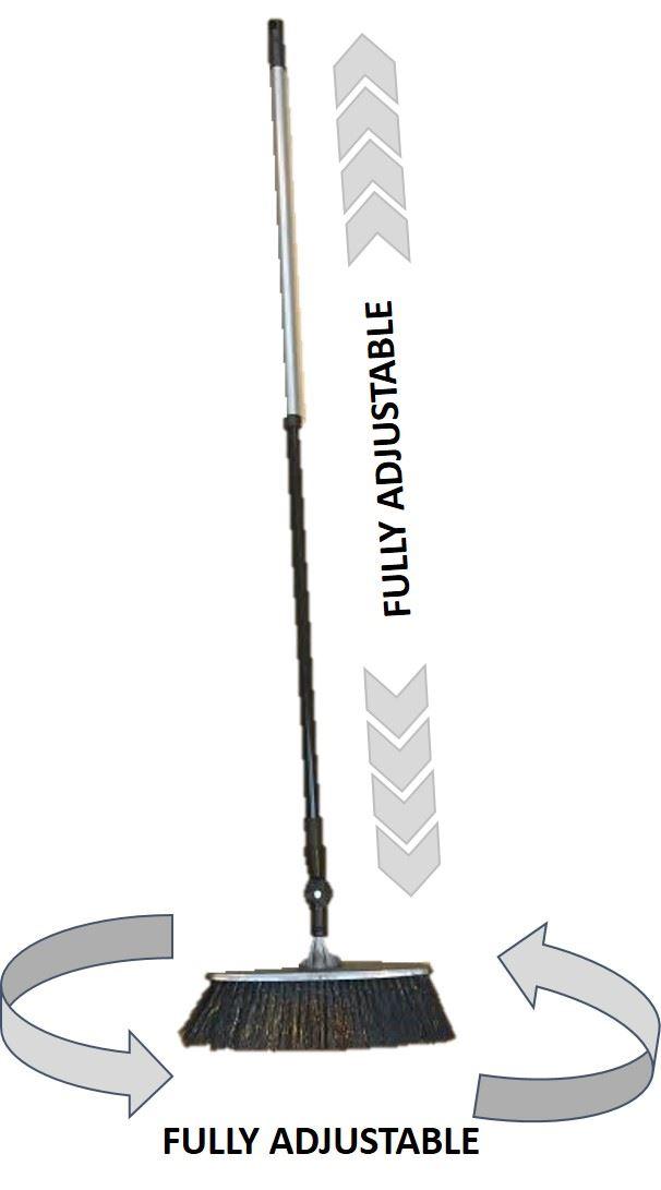 Telescopic Swivel Slim Floor Sweeping Broom Brush Soft