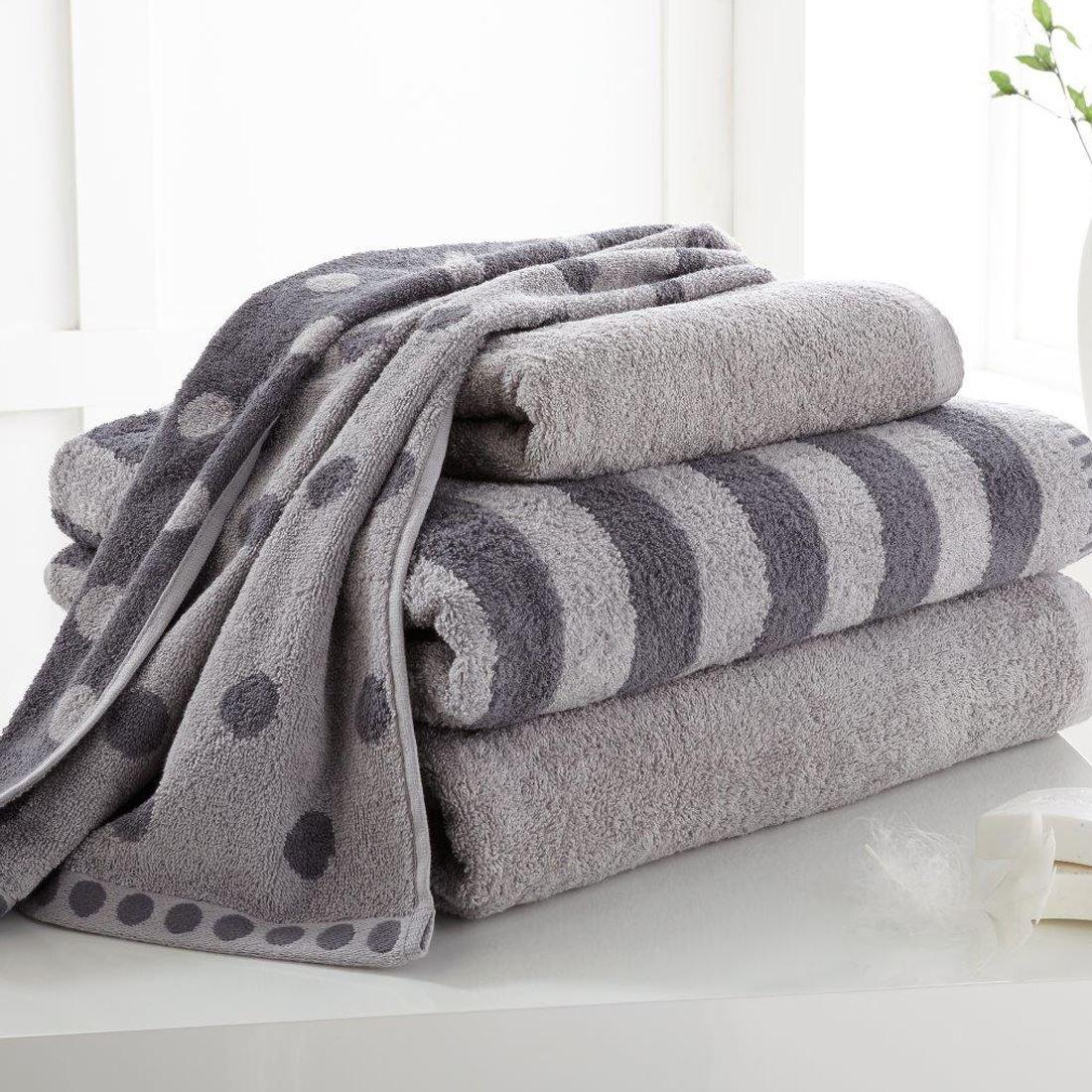 Polka Dot Stripe 4 Pcs Bale Set Hand Towel Bath Towel 100 Cotton Ebay