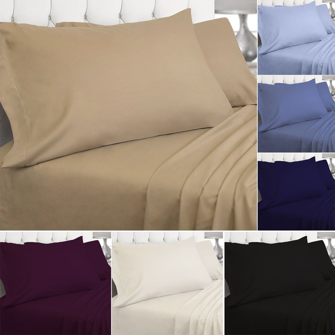 Luxury 200 Thread Count Fitted Sheet 100% Egyptian Cotton High Quality Bed Linen