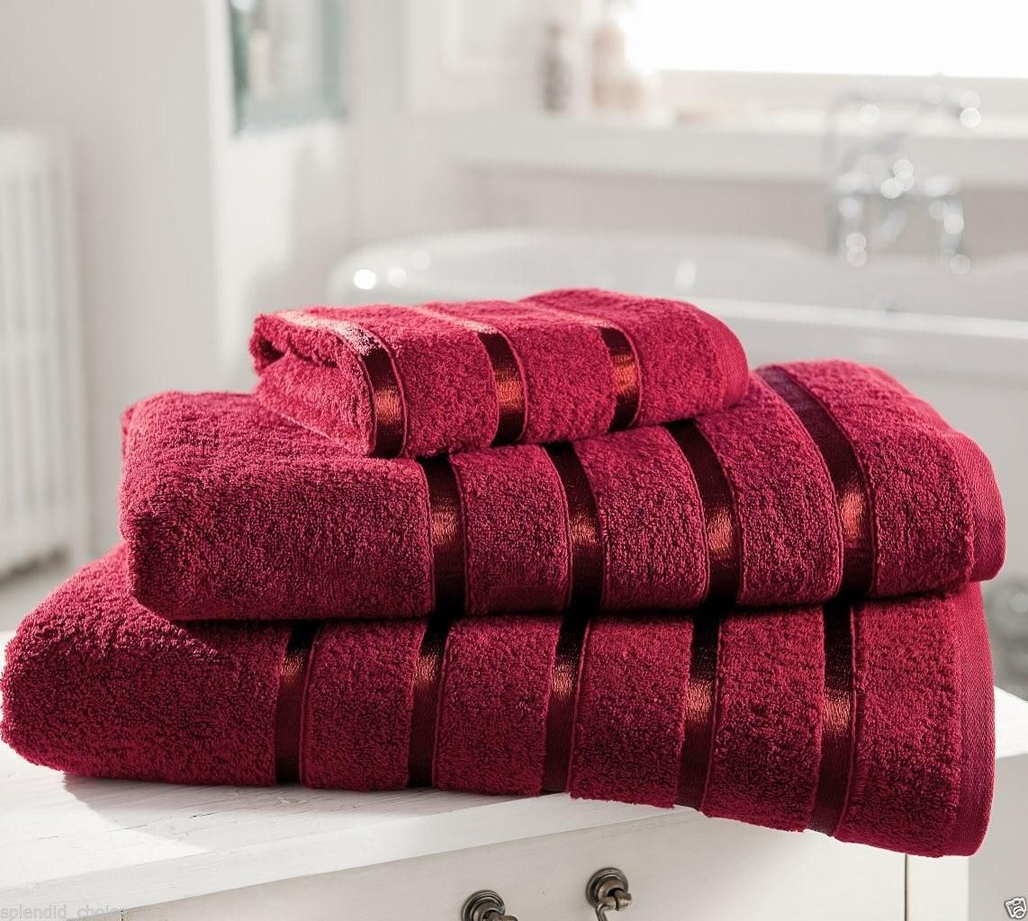 Hand Towels Bathroom: NEW Luxury 100% Egyptian Cotton Towels