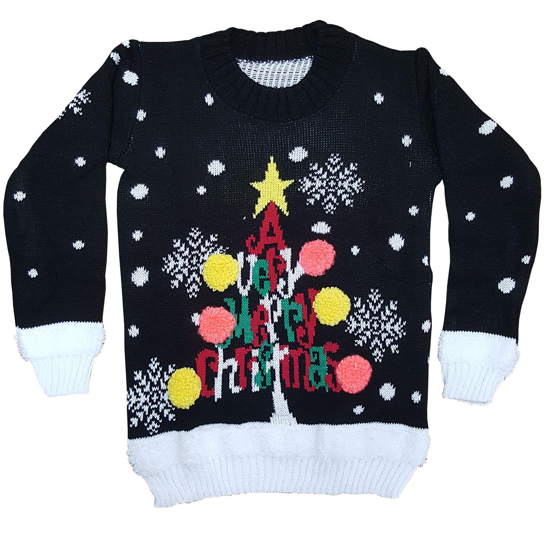 Kids Girls & Boys Xmas Novelty Knitted Christmas Jumper Sweater Top eBay
