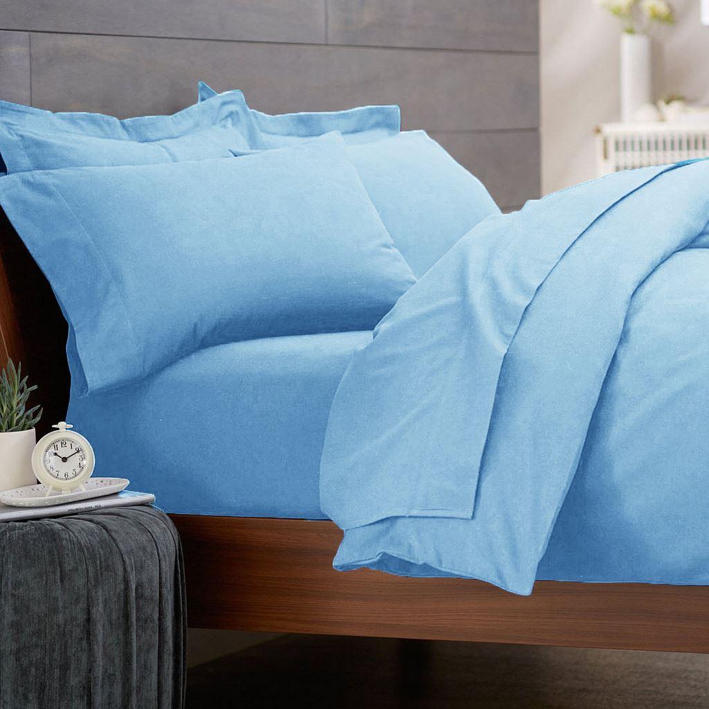 3 pc flanellette bed set fitted sheet flat sheet pillowcase 100 cotton. Black Bedroom Furniture Sets. Home Design Ideas