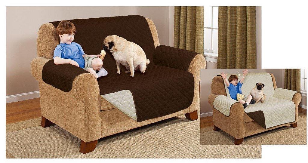 Reversible Sofa Protector Armchair Throw Settee Furniture ...