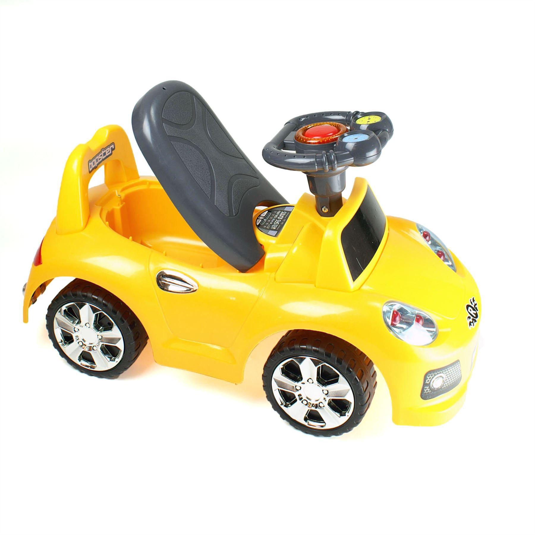 Bopster Kids Toddler Ride On Push Along Sports Car 4