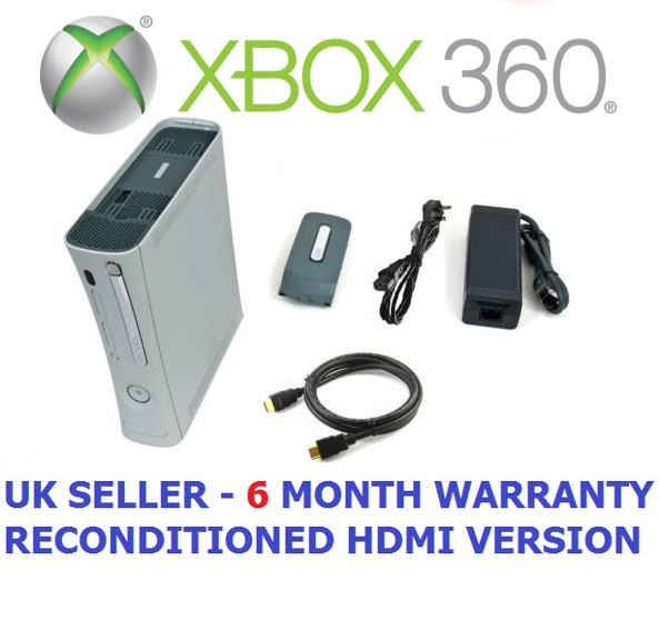 Microsoft Xbox 360 20 GB White Premium console UK PAL HDMI Refurbished Used