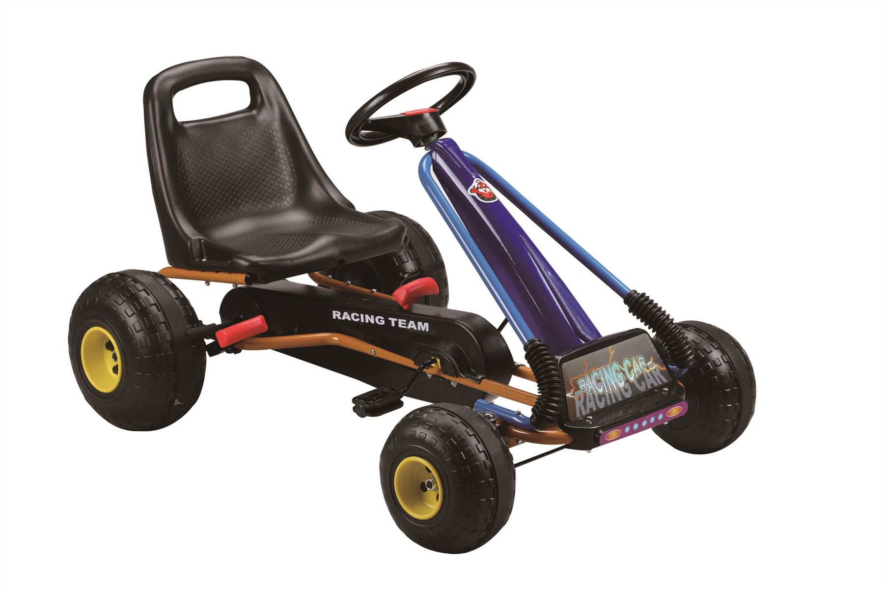 CHILDRENS KIDS PEDAL GO KART CART WITH ADJUSTABLE SEAT AND