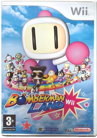 BOMBERMAN LAND FOREIGN COVER/UK IN GAME Wii *NEW & SEALED*