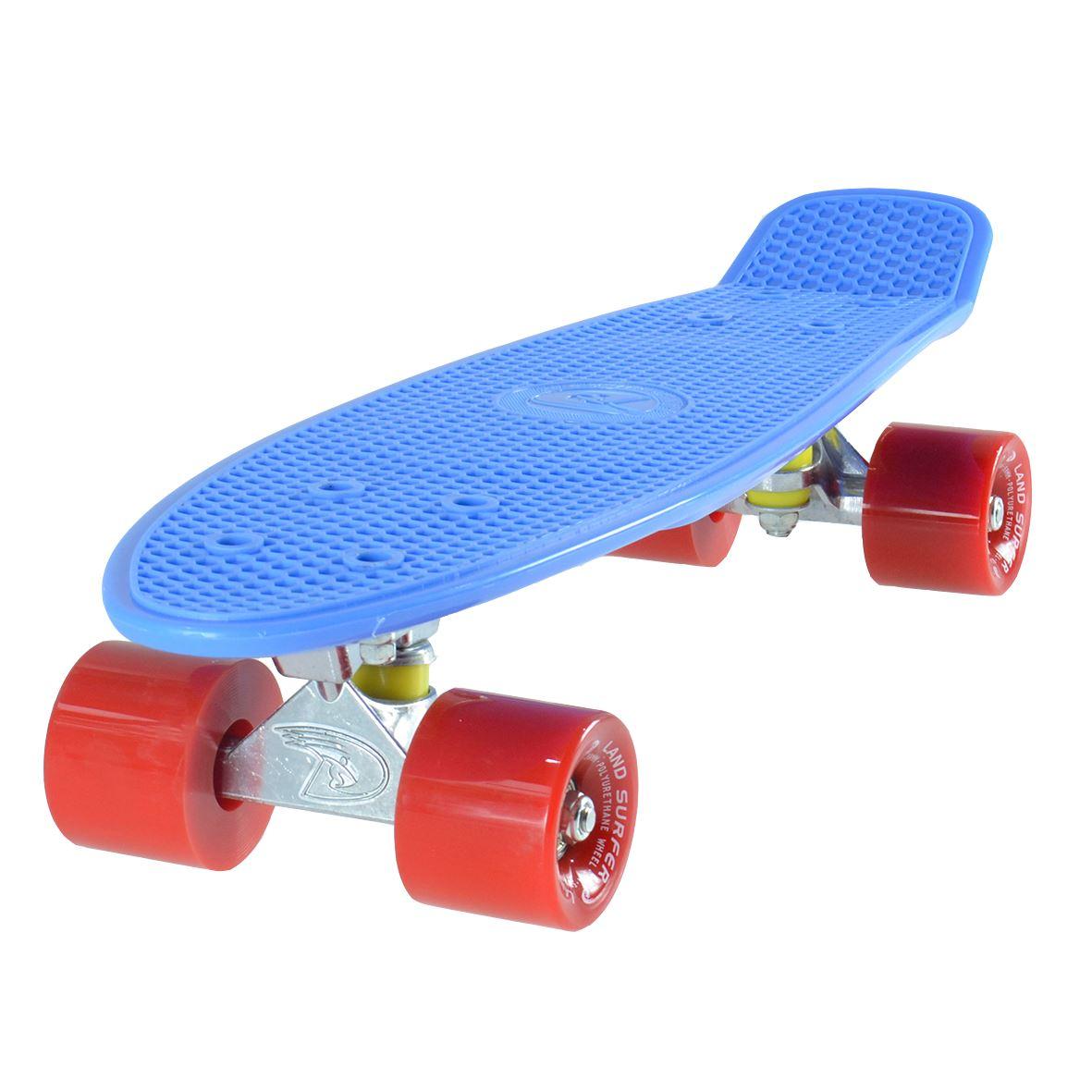land surfer cruiser skateboard 22 blau brett kr ftig rot reifen ebay. Black Bedroom Furniture Sets. Home Design Ideas