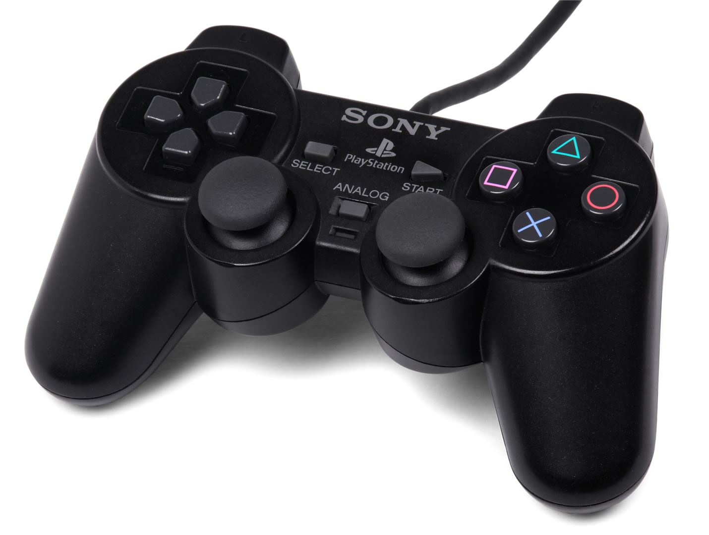 OFFICIAL SONY DUALSHOCK CONTROLLER (BLACK) (PS2)