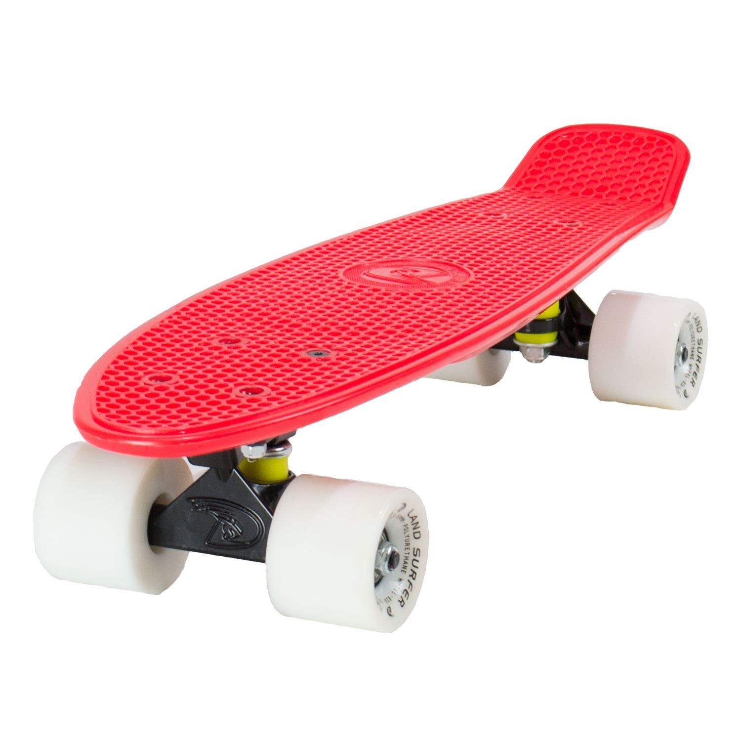 land surfer cruiser skateboard 22 red board black trucks. Black Bedroom Furniture Sets. Home Design Ideas