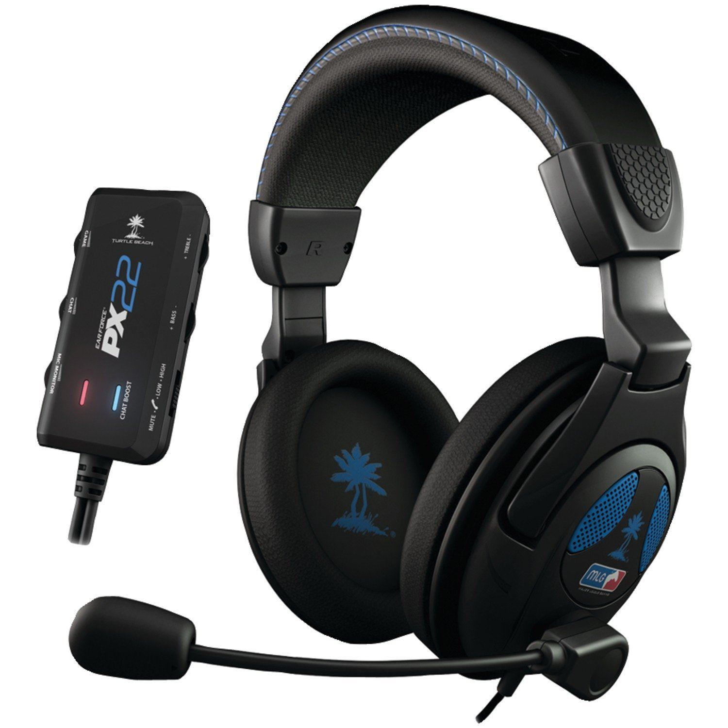 turtle beach ear force px22 amplified gaming headset ps3. Black Bedroom Furniture Sets. Home Design Ideas