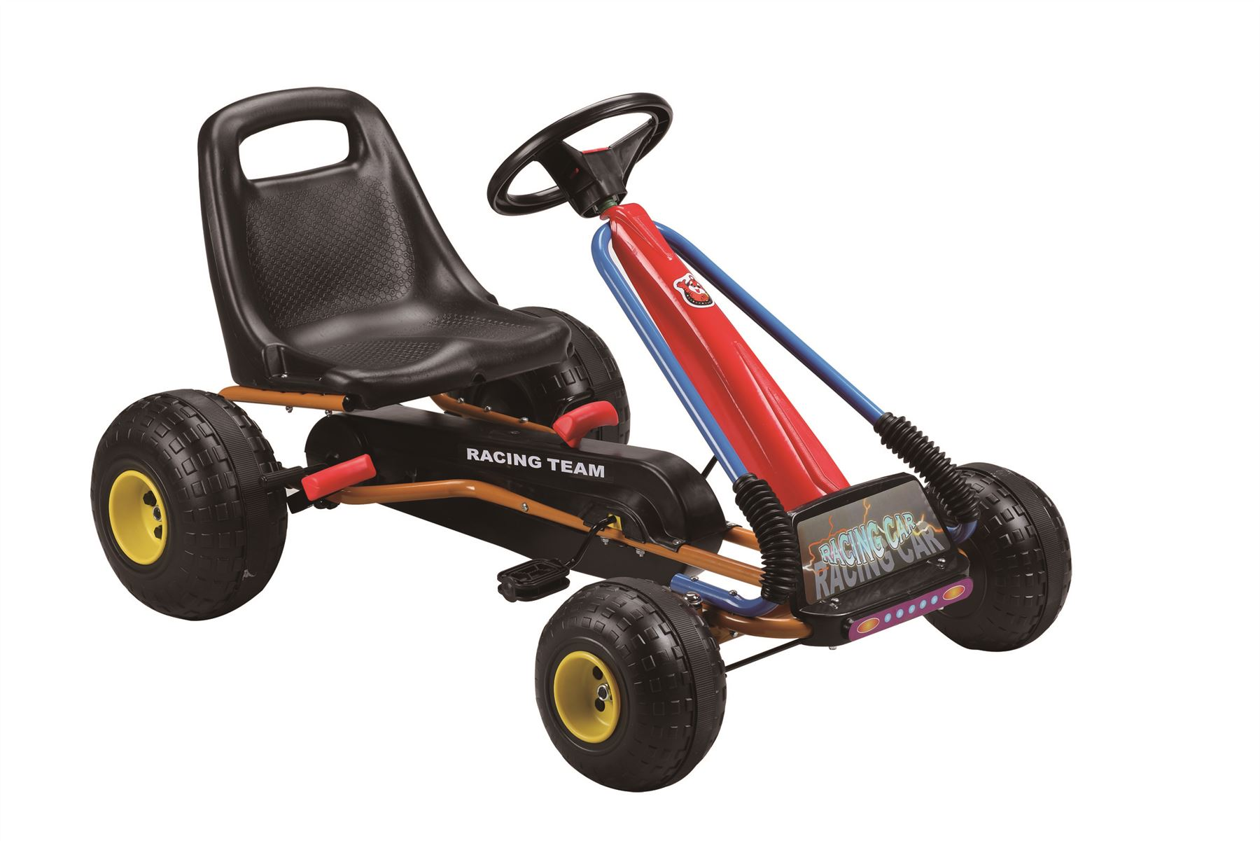 CHILDRENS KIDS PEDAL GO KART CART WITH OVERSIZE WHEELS AND