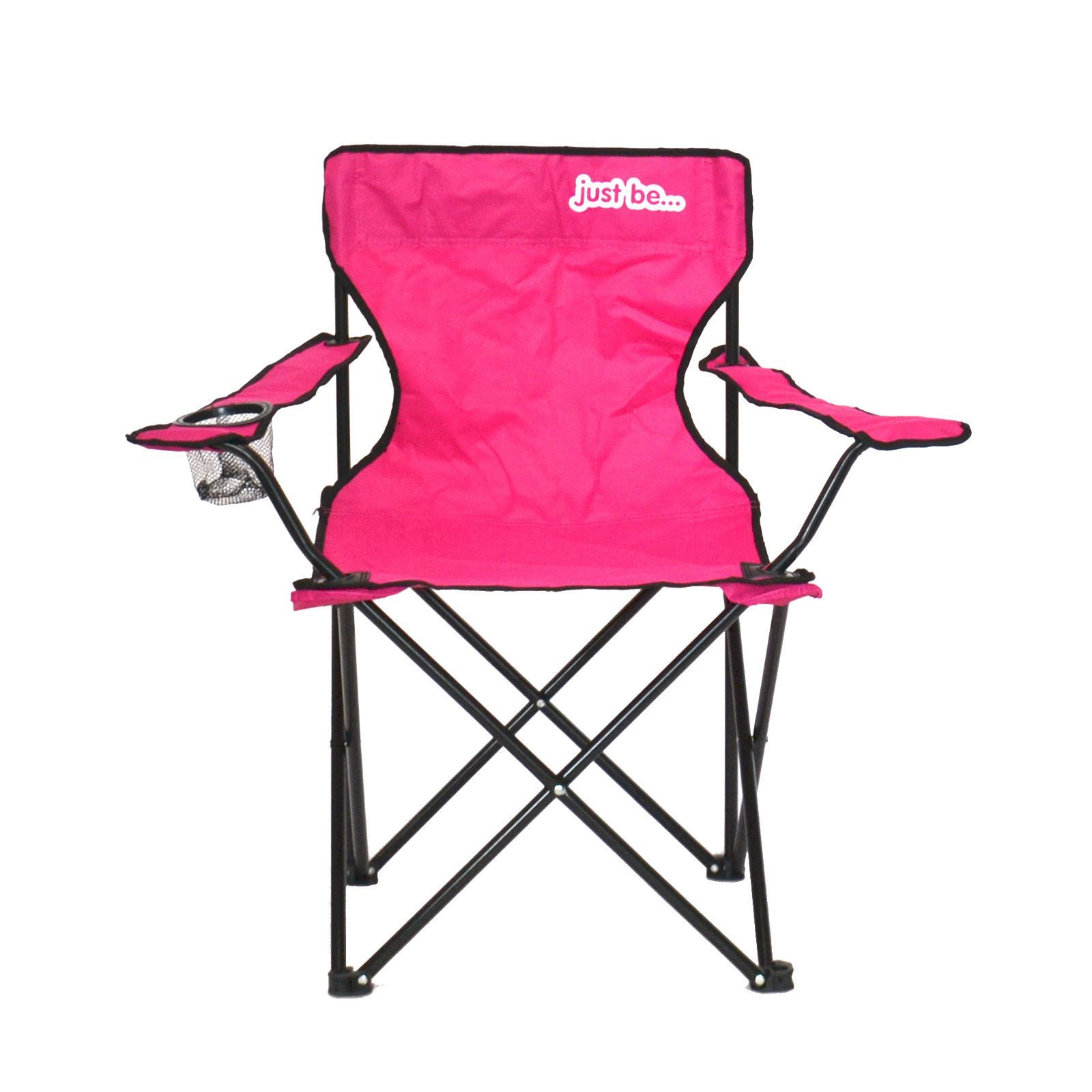 Returned Stock Camping Chair PINK WITH BLACK TRIM