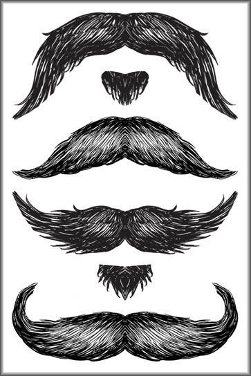 stachetats mustache tattoo temporary man face tattoos