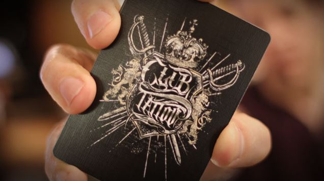 Bicycle club tattoo playing cards hand illustrated poker for Bicycle club tattoo deck