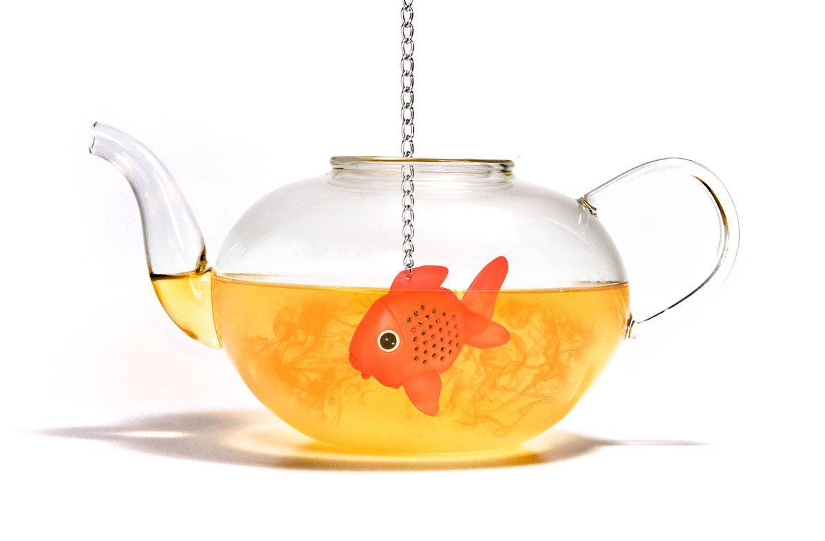 Goldfish tea infuser loose leaf tea bag fun by suck uk ebay for Fish tea bags