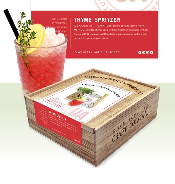 urban agriculture grow your own craft cocktail gift set
