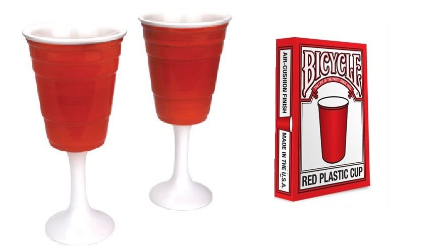 Red Solo Cup Gift Pack Wine Glass Set Bicycle Playing