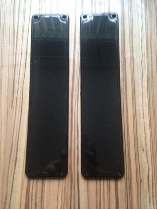 Plastic door finger plates white black clear good for Door finger plates