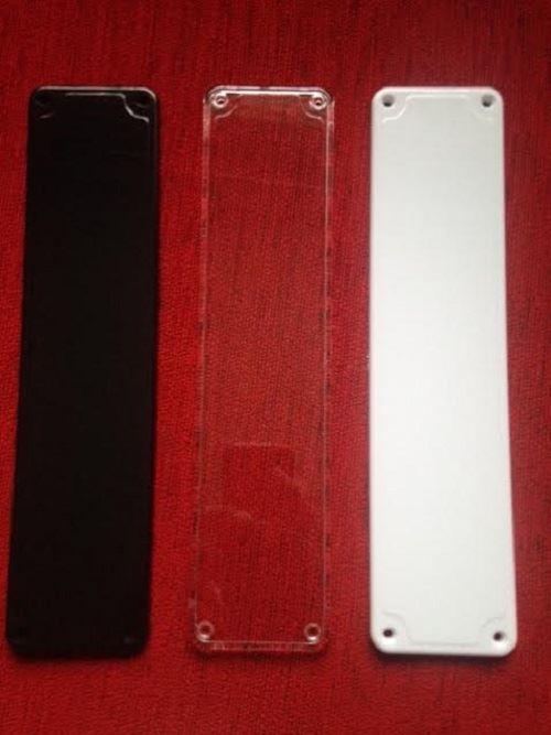 Plastic Door Finger Plates White Black Clear Good