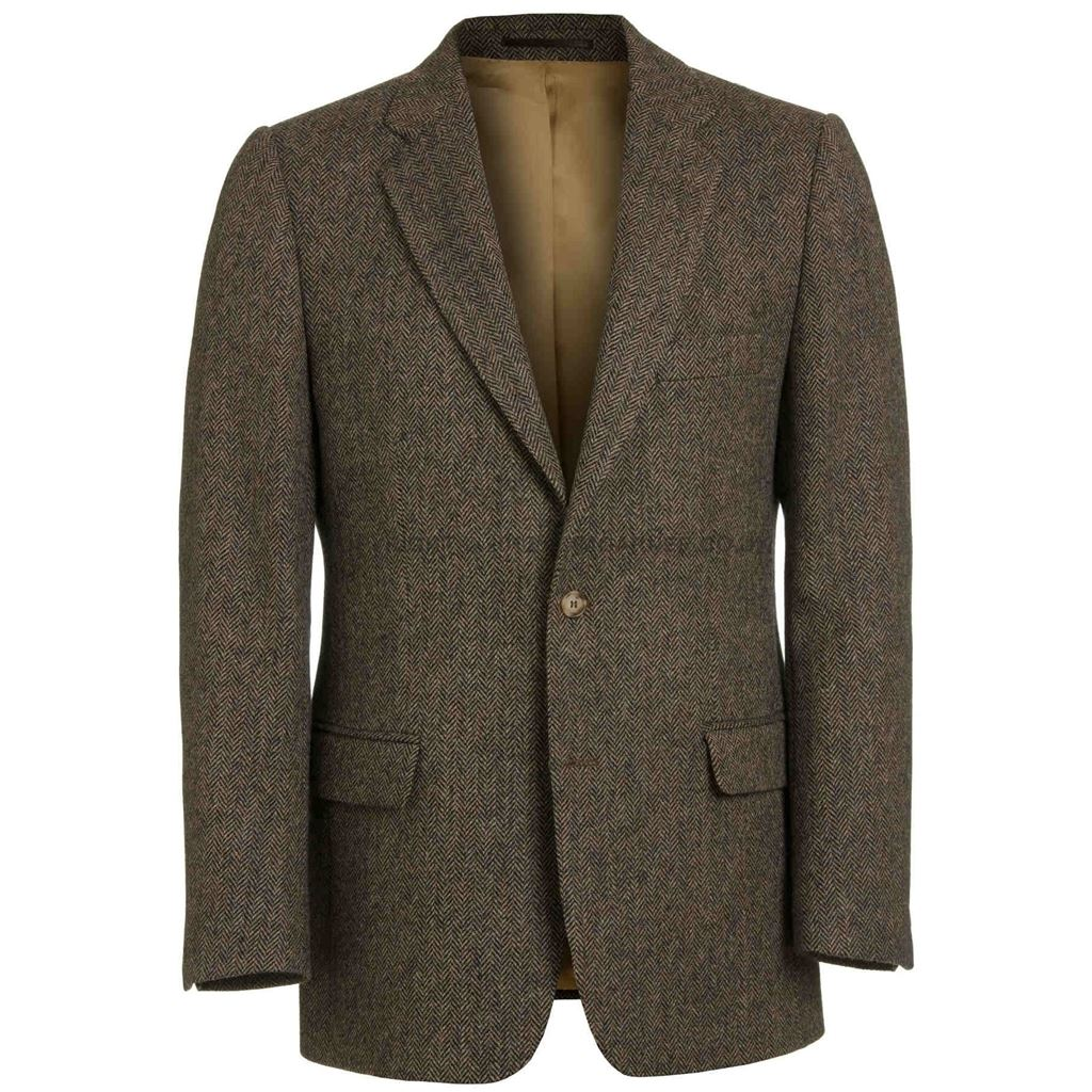 Magee Brown Amp Black Donegal Tweed Jacket Cloth No 51050