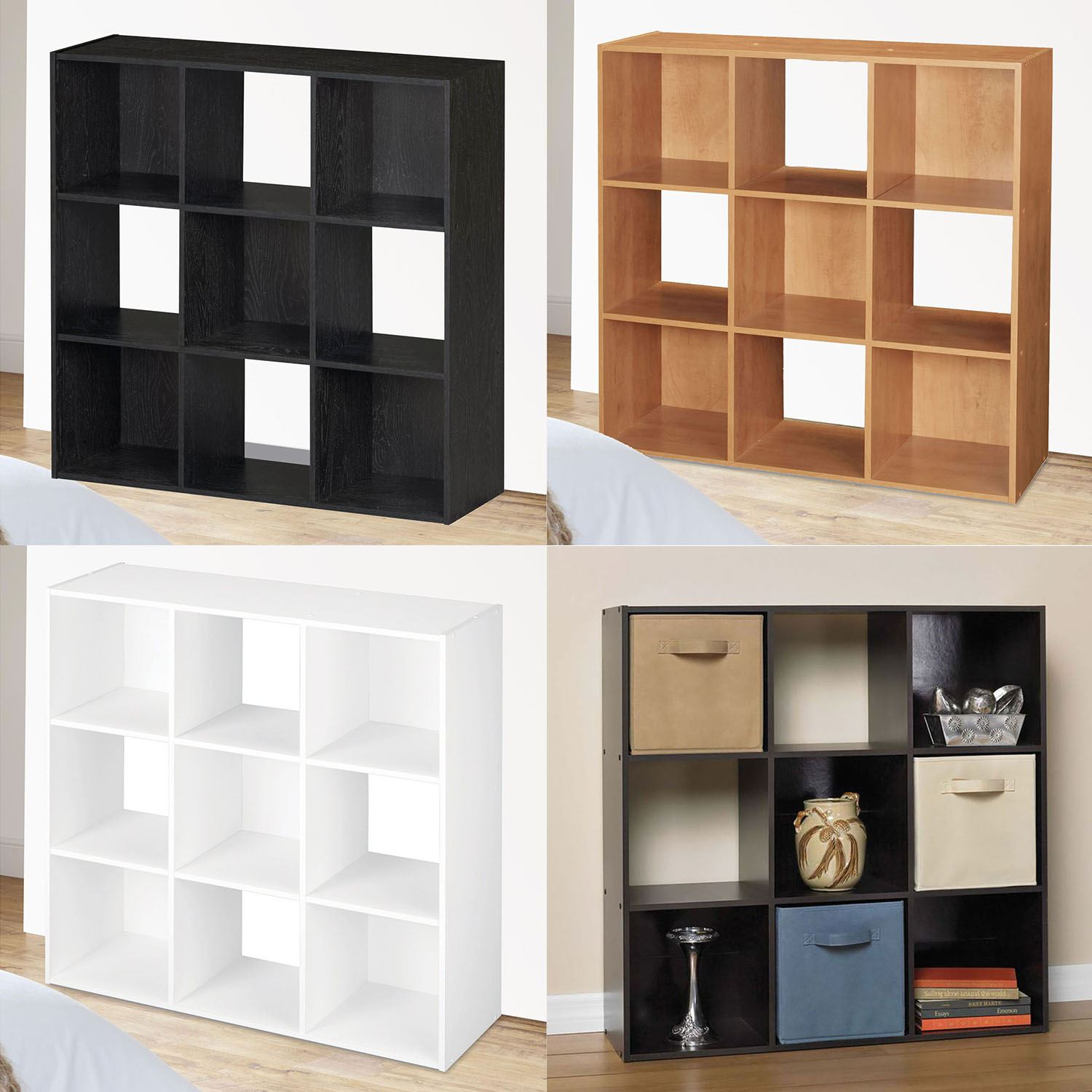 9 Cube Wooden Bookcase Shelving Display Shelves Storage