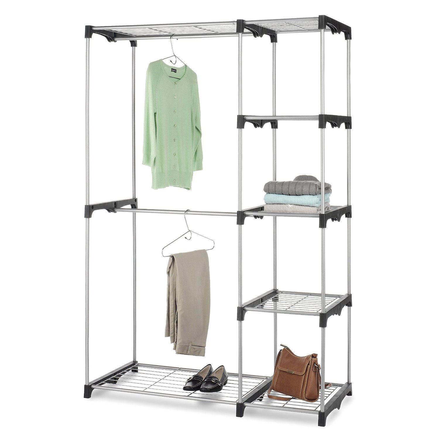 rack richards product homewares garden chrome home garment standing shipping commercial clothes free storage today overstock