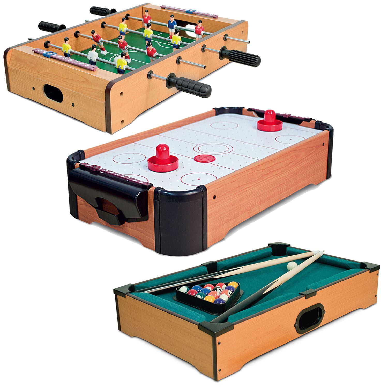 Mini Table Top Air Hockey Football Pool Game Set Desktop Arcade Toy Xmas  Gift