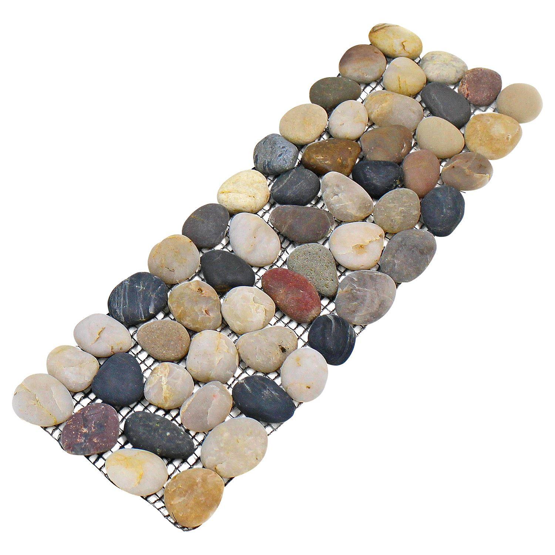 4 pack pebble border garden plant lawn edging stone strips for Stone pebbles for garden
