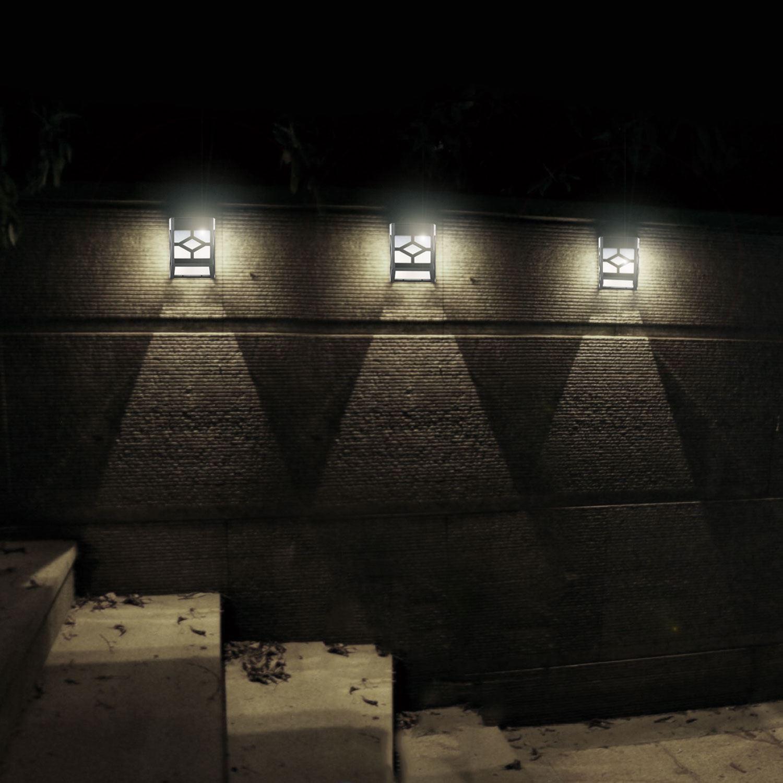 8xOutdoor Garden Shed Door Fence Wall Bright Solar Powered Led Lights Lighting eBay