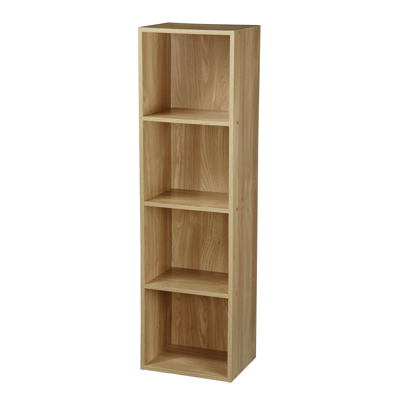 Tier wooden bookcase shelving display storage